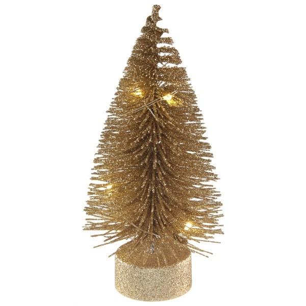VIANOČNÝ LED svietiaci stromček zlatý