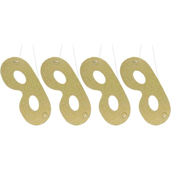 MASKY glitrové zlaté 4ks