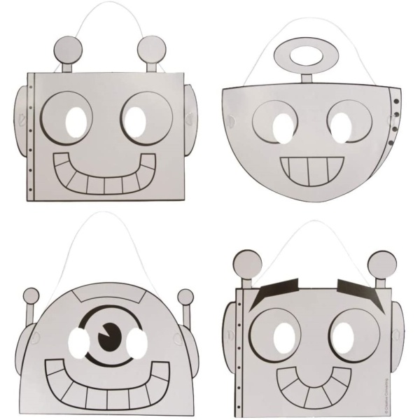 MASKY papierové Roboti 12ks
