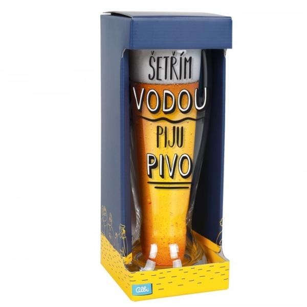 MAXIDUPLÁK Šetrím vodou, pijem pivo s českým textom