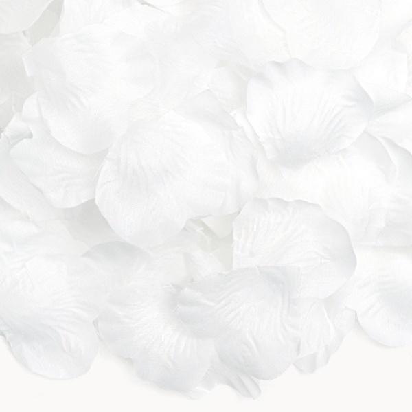 Okvetné lístky ruží 500 ks biele