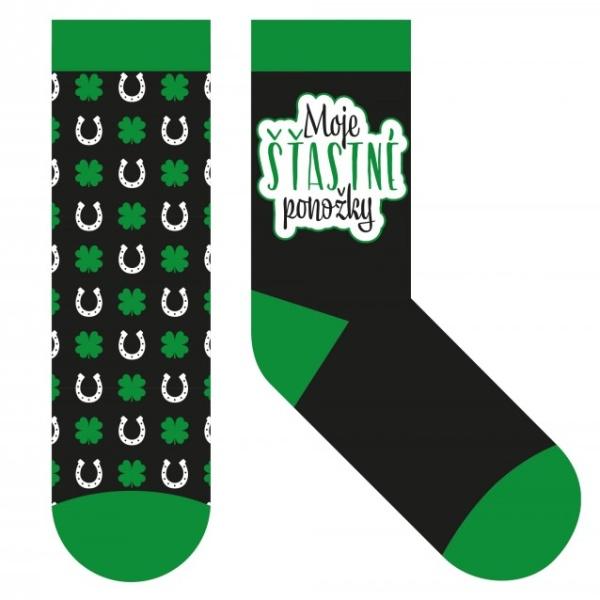 Humorné PONOŽKY Moje šťastné ponožky vel 39-42