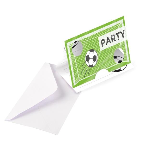 POZVÁNKY s obálkami Futbalová párty 8ks