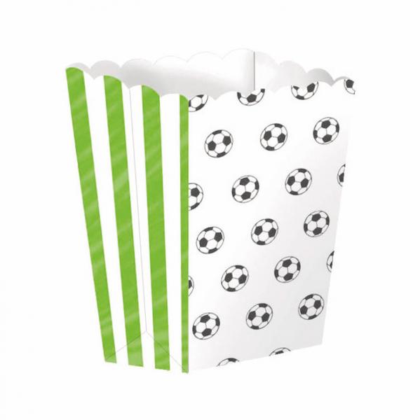 VRECKO na popcorn papierové Futbal 4ks