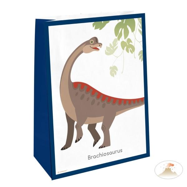 SÁČKY papierové Dinosaurus 4ks