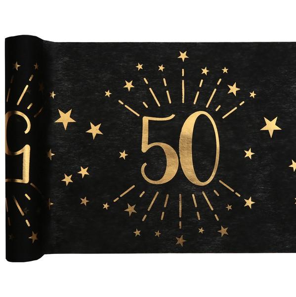 """Šerpa stolová čiernozlatá """"50"""" 30cm / 5m"""