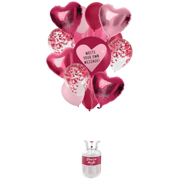 HELIUM do balónikov - sada s balónikmi Love mix 19 ks