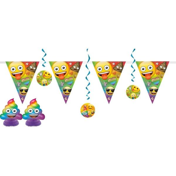 SADA dekorácií Rainbow Emoji 7ks