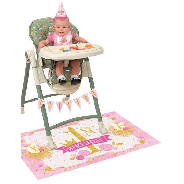 SADA na stoličku 1. narodeniny ružovozlatá