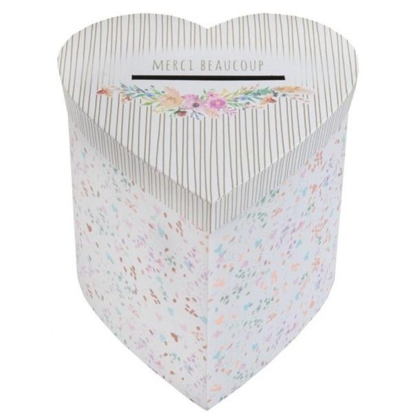 SVADOBNÝ BOX na blahoželania Floral 20x20x20cm