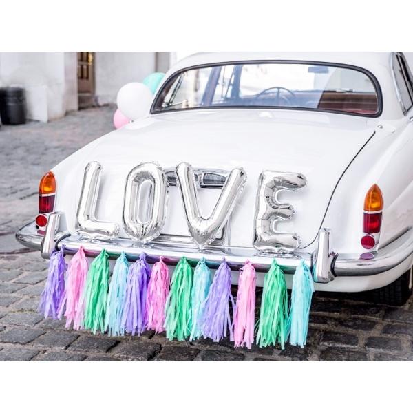 SVADOBNÁ dekorácia na auto Love mix