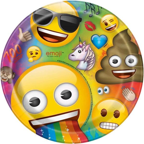 TANIERE papierové Rainbow Emoji 23cm 8ks