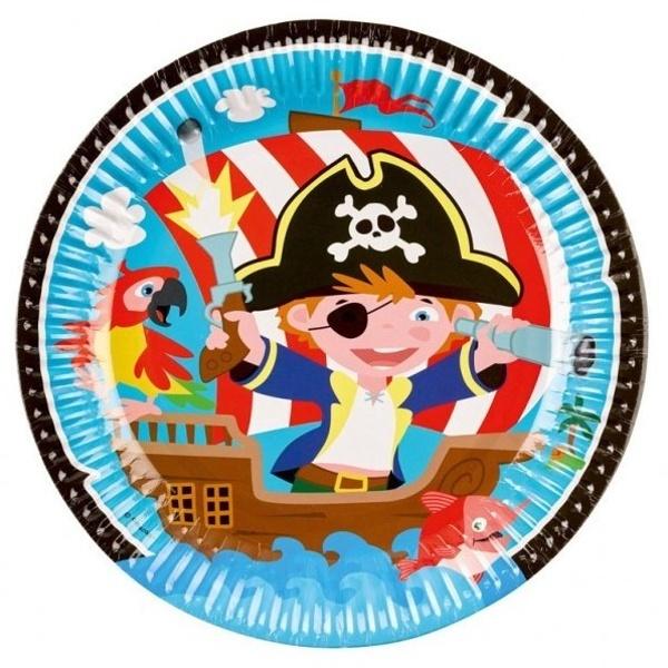 TANIERE papierové piráti 23 cm, 8 ks