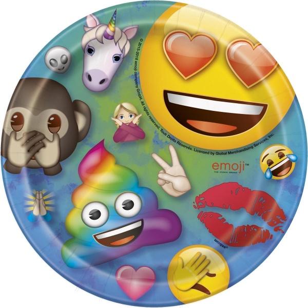 TANIERIKY papierové Rainbow Emoji 18cm 8ks