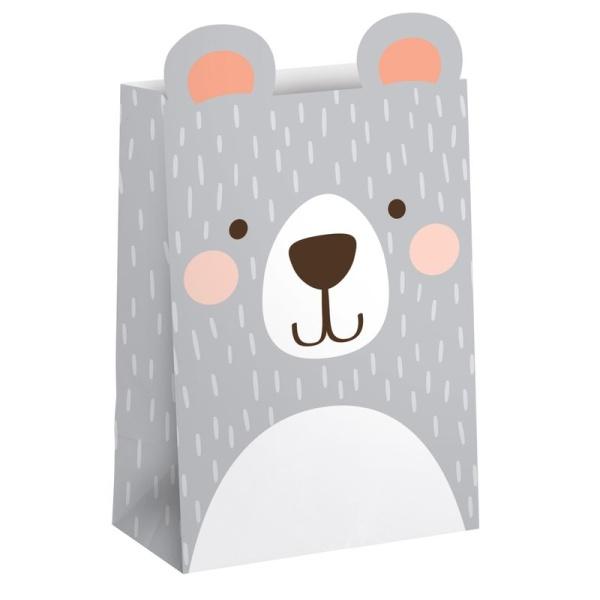 TAŠTIČKY papierové Medvedík 8ks