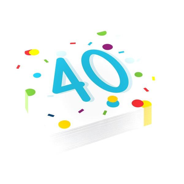SERVÍTKY 40 konfety
