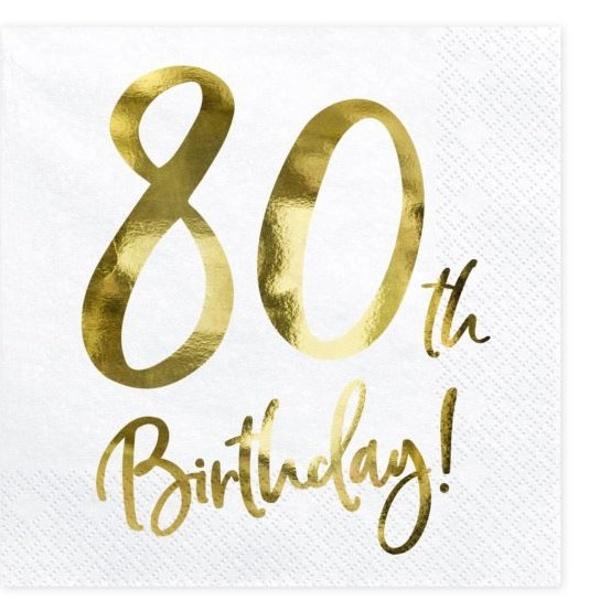 OBRÚSKY 80. narodeniny biele