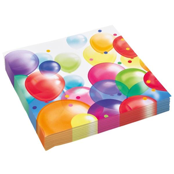 OBRÚSKY Balóniky 20ks 33x33cm