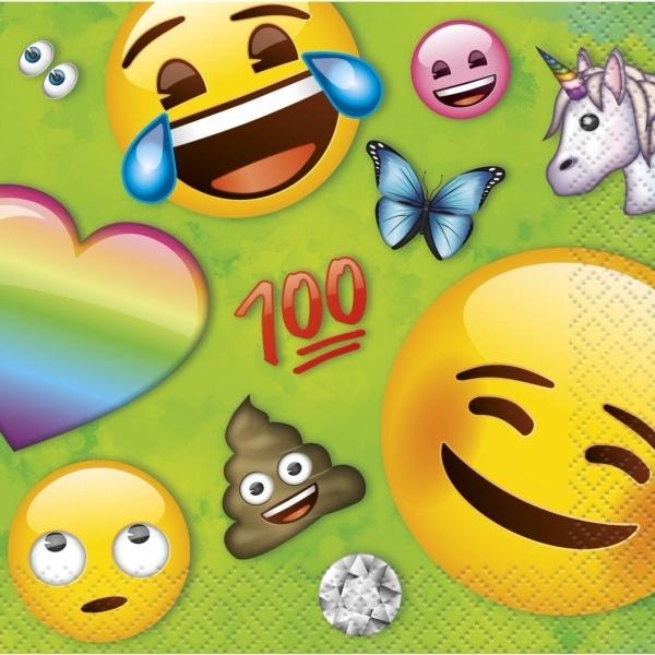 SERVÍTKY papierové Rainbow Emoji 12x12cm 16ks