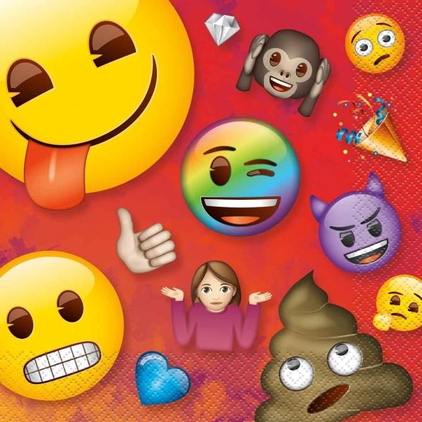 SERVÍTKY papierové Rainbow Emoji 16,5x16,5cm 16ks