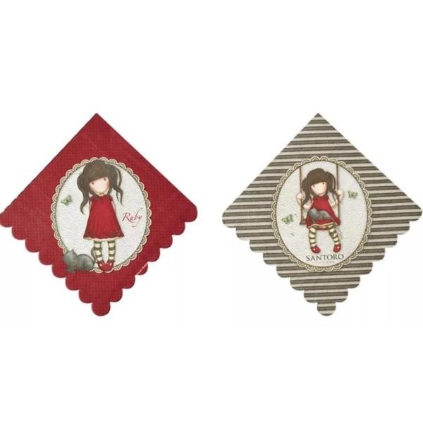 SERVÍTKY papierové Santoro Ruby 33x33cm 8ks