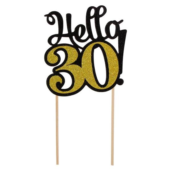 ZÁPICH na tortu 30. narodeniny zlatý