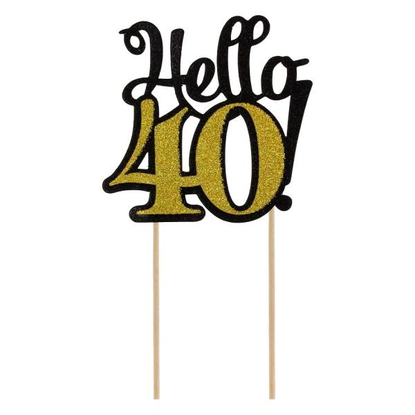 ZÁPICH na tortu 40. narodeniny zlatý