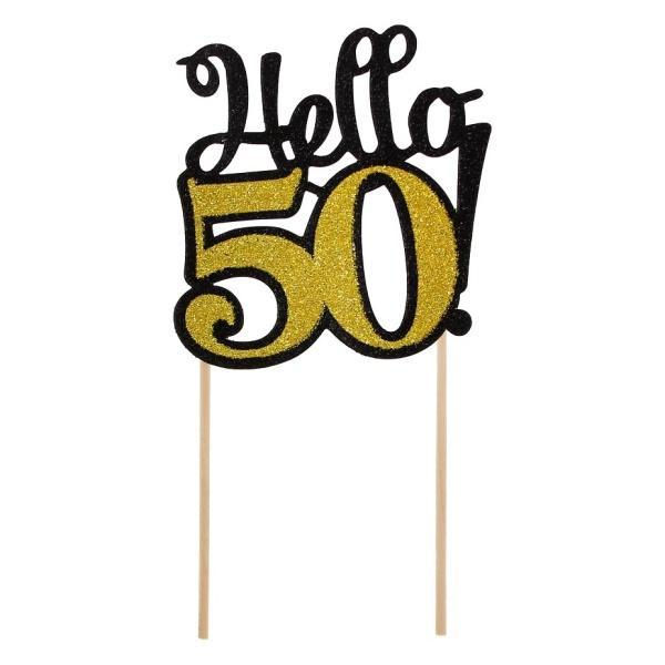 ZÁPICH na tortu 50. narodeniny zlatý