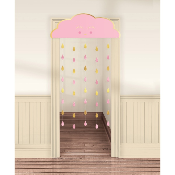 ZÁVES na dvere Oh Baby Girl Mrak ružový