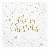 34df78f61994 SERVÍTKY papierové Merry Christmas 33x33 cm