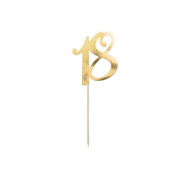 ZÁPICH na tortu číslo 18 zlaté
