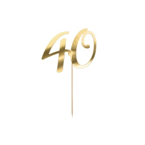ZÁPICH na tortu číslo 40 zlaté