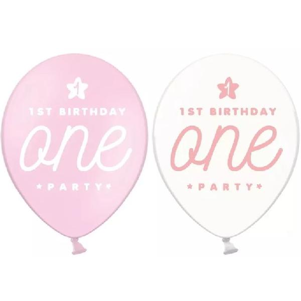BALÓNIKY latexové 1. narodeniny ružové a transparentné 30cm 50ks