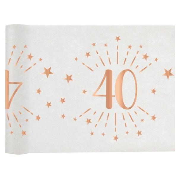 ŠERPA NA STÔL Sparkling 40. narodeniny 30cmx5m